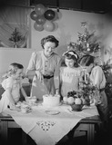 """Family at Christmas, 1955."""