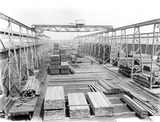 """Timber at Earlestown Carriage and Wagon Works, Merseyside, c 1927."""