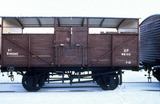 """British Railways cattle wagon, 1951. """