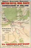 """'British Royal Mail Route...', GER poster, April 1914. """