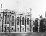 """Quadrangle, Corpus Christi College, Cambridge, c 1841. """