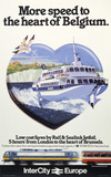 """'More speed to the heart of Belgium', BR poster, c 1980s. """