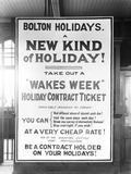 """Poster at Bolton Station, Greater Manchester, 29 June 1925."""