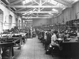 """London, Midland & Scottish Railway clothing department, 3 April 1925."""