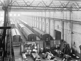"""Carriages at Newton Heath Works, Greater Manchester, 6 March 1927. """