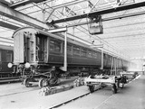"""Carriage repair at Newton Heath Works, Greater Manchester, 5 March 1927."""