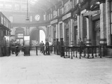 """Ticket gate at Liverpool Exchange, 23 February 1927.  """