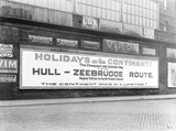 """Hull to Zeebrugge poster, c 1926."""