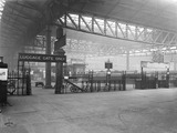 """Luggage gate at Manchester Victoria Station, 5 April 1928. """