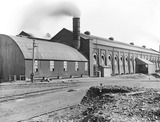 """Boiler house at Formby power station, Merseyside, c 1928."""