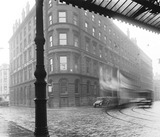 """View from the forecourt of Manchester Central Station, 29 October 1929. """