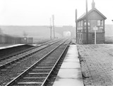 """Signal box, Droylsden Station, Manchester, 4 November 1929. """