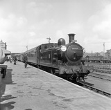 Locomotive No. 30757 on RCTS Special at Eastleigh Station. England, 1953.