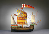 Large English ship or 'Cog', c 1485.