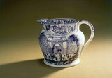 Staffordshire jug commemorating the opening of the LMR, 1830.