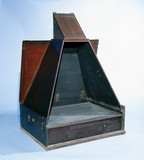 Folding wooden camera obscura, early 19th century.