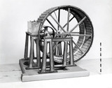 Breast water wheel, 19th century.