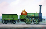 London & Birmingham Railway 2-2-0 locomotive no 28, c 1838.
