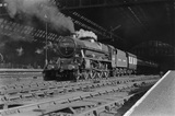 4.50pm train to Bradford. Locomotive 45694 leaving St Pancras, 25th August 1948. (E. D. Bruton, EDB_5171).