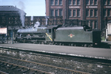 London Midland Scotland (LMS) locomotive no. 45565 'Victoria'  at Bradford Exchange Station, 30th May 1966.  (T.Linfoot slide, 8/154B).
