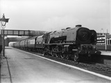 British Railways (B.R.) locomotive 46236 'City of Bradford' 7P class, Hayes & Harlington 1948.