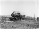 Locomotive no. 5337 on down train on Barnstaple link curve c.1928
