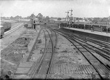 Clacton-on-Sea, Essex. View of main island platform.
