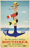 Poster, British Railways (Southern Region), For Happy Holidays Southsea and Portsmouth