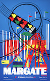 BR(CAS) poster for Network SouthEast. Margate by train 'Theme park by Edward Pond, 1989.