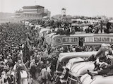 Derby day at Epsom, Surrey, 25 May 1955.
