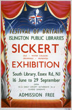 Festival of Britain, Walter Sickert exhibition poster, 1951