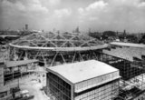 Construction of the Dome of Discovery, Festival of Britain,  4 August 1951