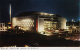 Postcard of the Royal Festival Hall, Floodlit. Festival of Britain, 1951