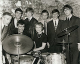 Anna Neagle at the Cavern Club in Liverpool with John Alderton & Terrence Edmond, March 1964