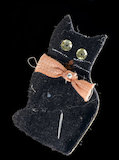 Paper amulet in the shape of a black cat, England, c.1918.