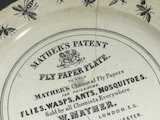 Mather's fly paper plate, England, late 19th century.