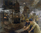 The Munitions Girls' oil painting, England, 1918.