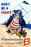 Don't be a pirate! A television licence (including sound) costs £3 - 1955