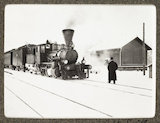 Russian snapshot album: steam train in the snow, c.1915