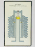 Coloured sectional drawing, scale 1:2, of Cockburn's Deadweight Safety Valve, 1924.