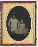 Boy with Fishing Rod and Sister, about 1860