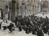 Good Friday service held in the ruins of St. George's Cathedral, Southwark, 1942