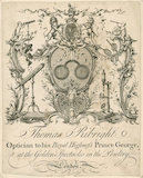 Trade card for Thomas Ribright, optician, c.1772.