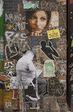 Graffiti collage in East London