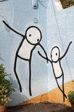 Graffiti in South East London by STIK on Blackwater Court