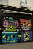 Graffiti in East London by Malarky of humorous characters