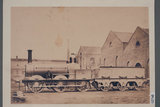 Works photograph of Madras Railway '0-6-0' locomotive, 1858.