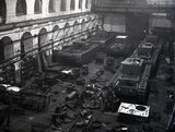 Works photographic negative of tanks in the erecting shop, 1941.