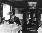 First class railway dining carriage, about 1907