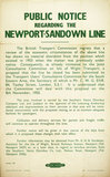 Public Notice Regarding the Newport - Sandown Line